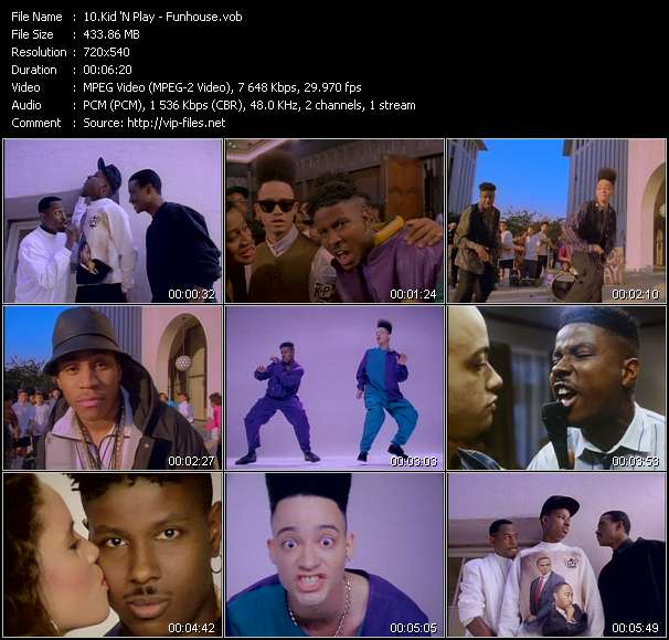 Screenshot of Music Video Kid 'N Play - Funhouse