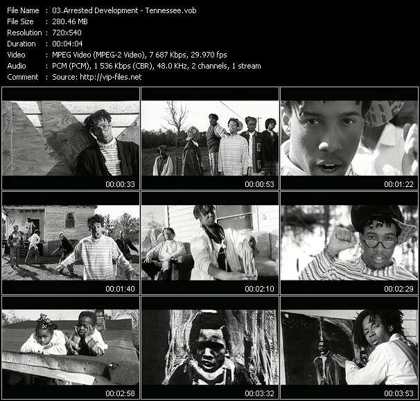 Screenshot of Music Video Arrested Development - Tennessee