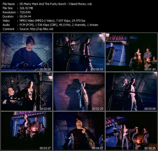 Screenshot of Music Video Marky Mark And The Funky Bunch - I Need Money