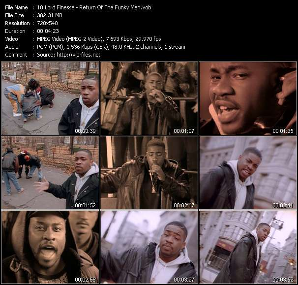 Screenshot of Music Video Lord Finesse - Return Of The Funky Man