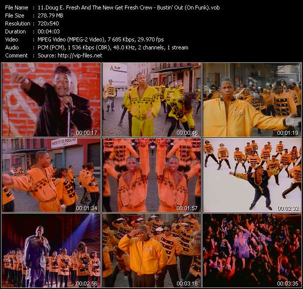 Screenshot of Music Video Doug E. Fresh And The New Get Fresh Crew - Bustin' Out (On Funk)
