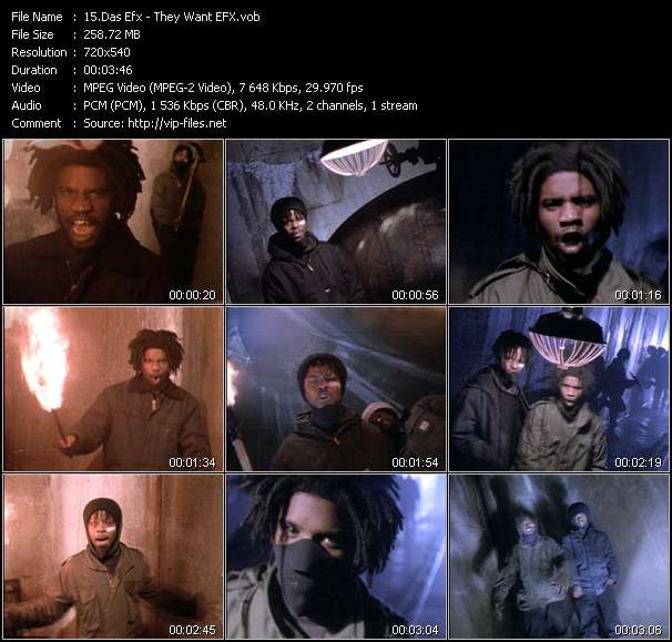Screenshot of Music Video Das Efx - They Want EFX