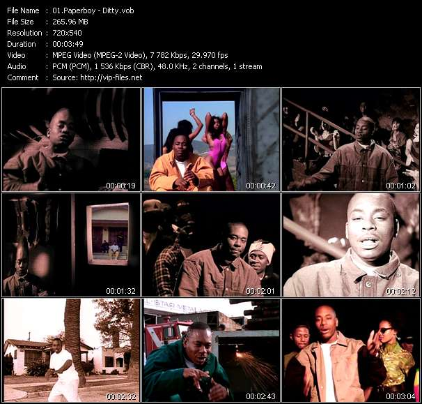 Screenshot of Music Video Paperboy - Ditty