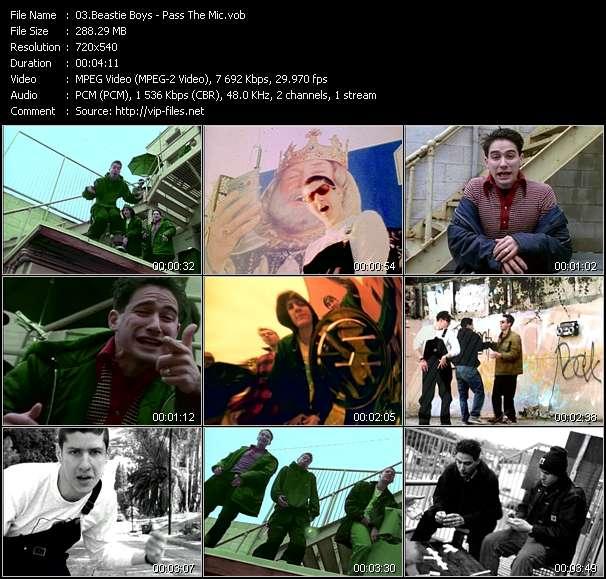 Screenshot of Music Video Beastie Boys - Pass The Mic