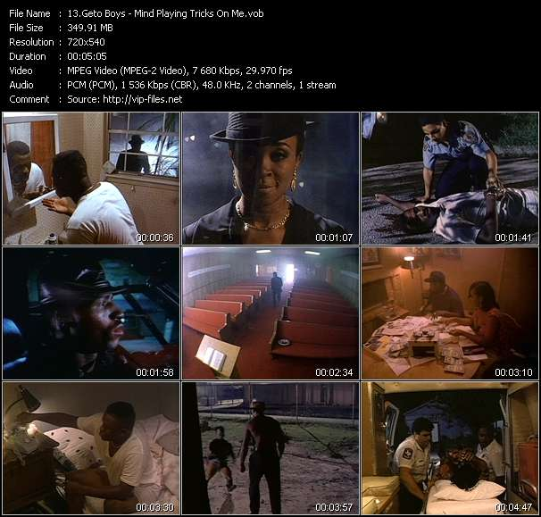 Screenshot of Music Video Geto Boys - Mind Playing Tricks On Me