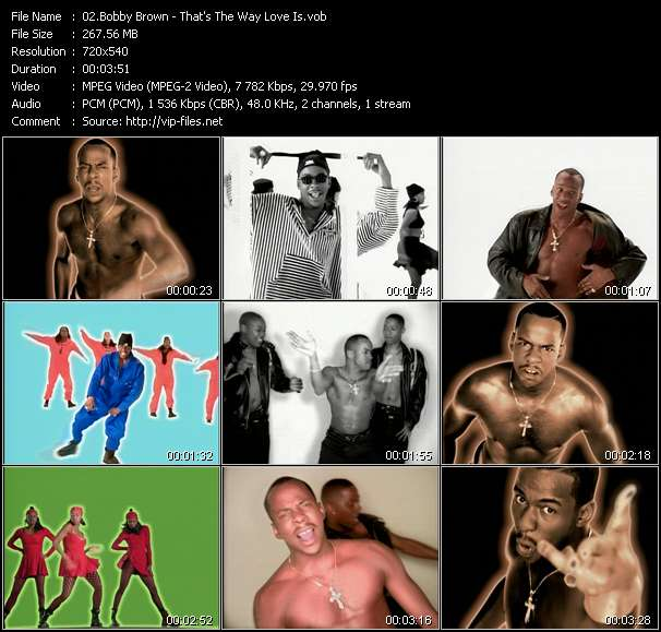 Screenshot of Music Video Bobby Brown - That's The Way Love Is