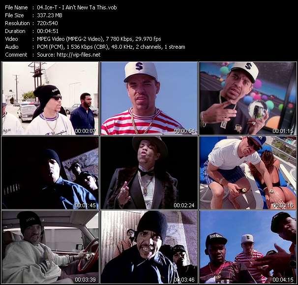 Screenshot of Music Video Ice-T - I Ain't New Ta This