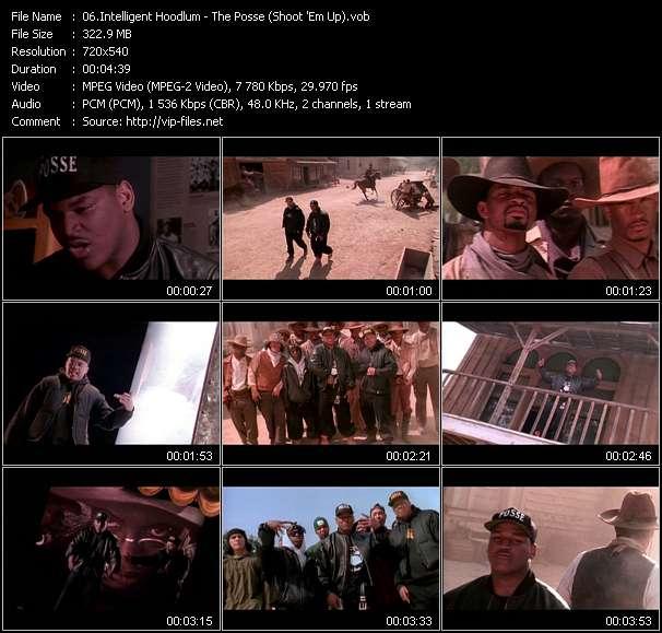 Screenshot of Music Video Intelligent Hoodlum - The Posse (Shoot 'Em Up)