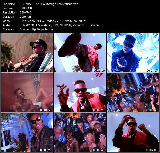 Screenshot of Music Video Jodeci - Let's Go Through The Motions