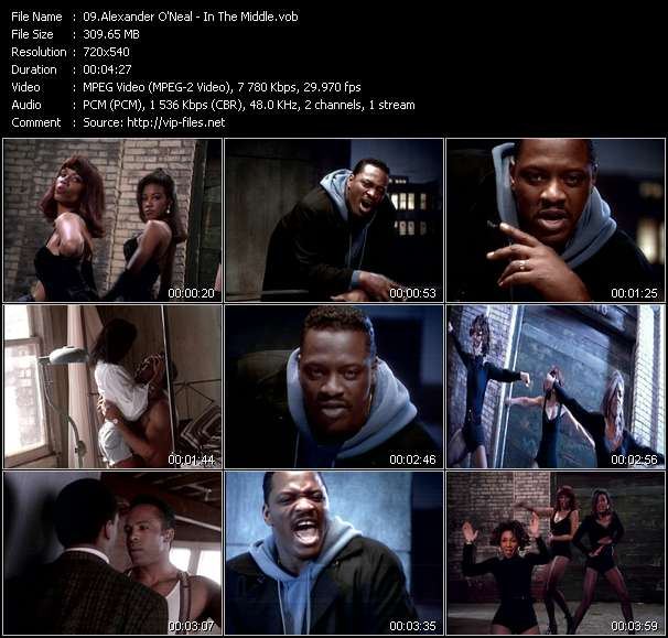 Screenshot of Music Video Alexander O'Neal - In The Middle