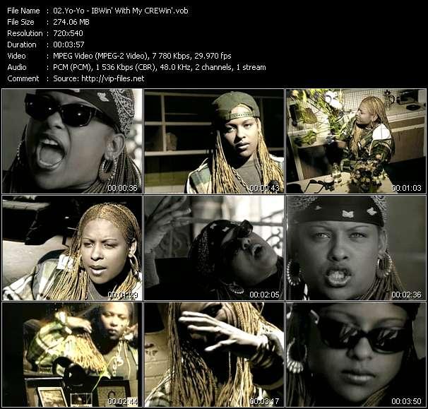 Screenshot of Music Video Yo-Yo - IBWin' With My CREWin'