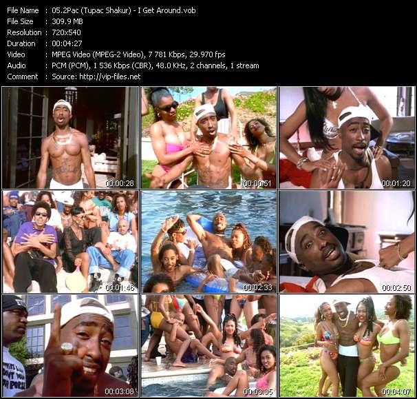 Screenshot of Music Video 2Pac (Tupac Shakur) - I Get Around