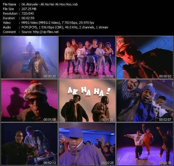 Screenshot of Music Video Akinyele - Ak Ha Ha! Ak Hoo Hoo?