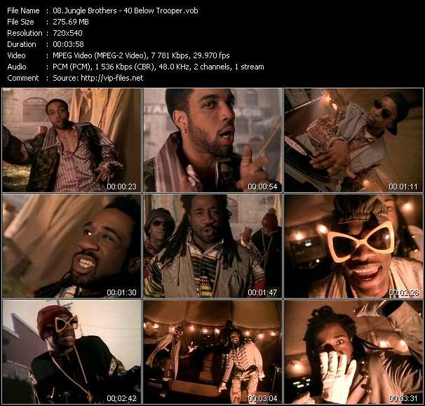 Screenshot of Music Video Jungle Brothers - 40 Below Trooper