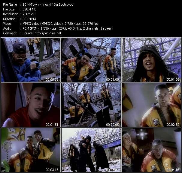 Screenshot of Music Video H-Town - Knockin' Da Boots