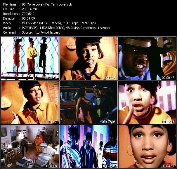 Screenshot of Music Video Monie Love - Full Term Love