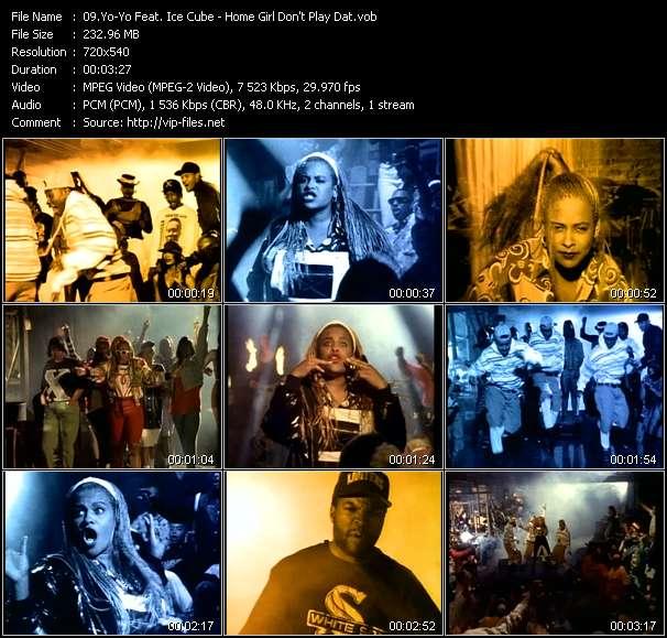 Screenshot of Music Video Yo-Yo Feat. Ice Cube - Home Girl Don't Play Dat