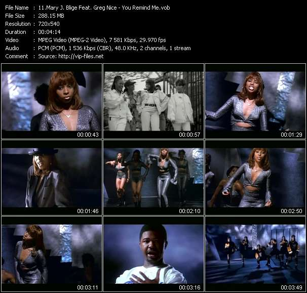 Screenshot of Music Video Mary J. Blige Feat. Greg Nice - You Remind Me