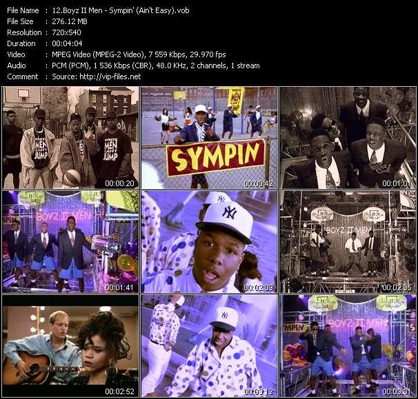 Screenshot of Music Video Boyz II Men - Sympin' (Ain't Easy)