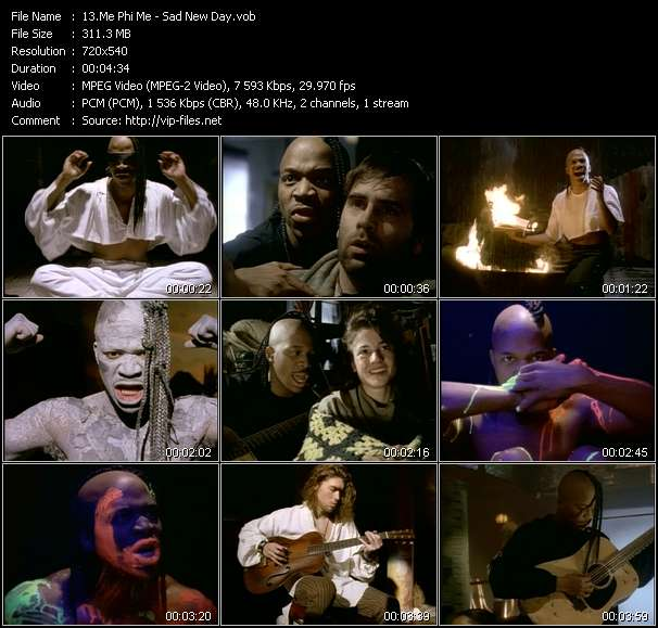 Screenshot of Music Video Me Phi Me - Sad New Day