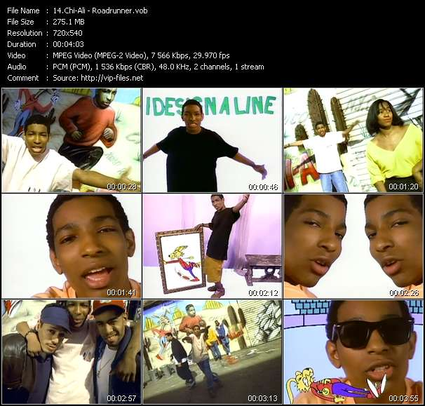 Screenshot of Music Video Chi-Ali - Roadrunner