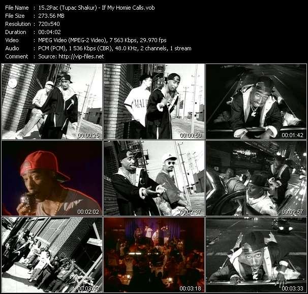 Screenshot of Music Video 2Pac (Tupac Shakur) - If My Homie Calls