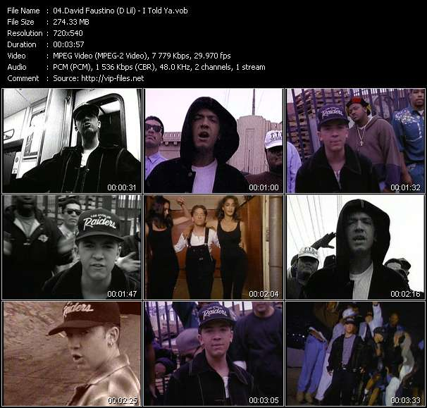 Screenshot of Music Video David Faustino (D Lil) - I Told Ya