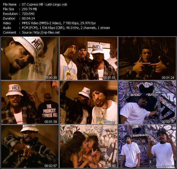 Screenshot of Music Video Cypress Hill - Latin Lingo