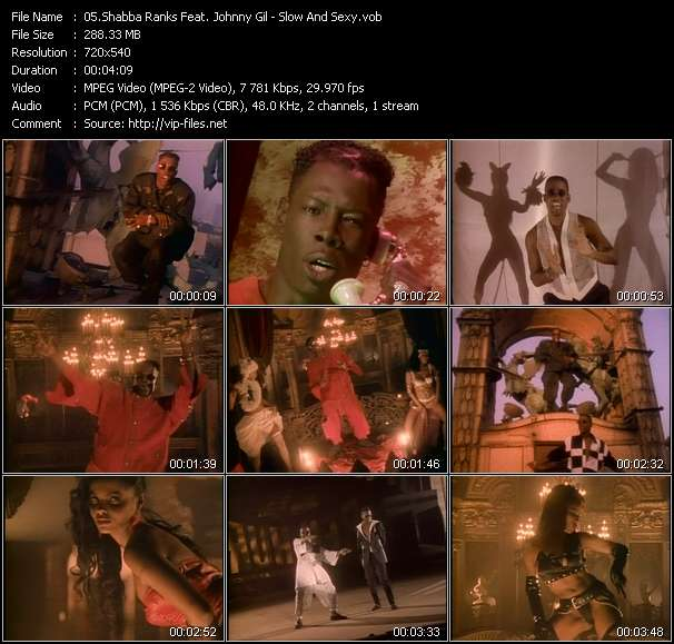 Screenshot of Music Video Shabba Ranks Feat. Johnny Gil - Slow And Sexy