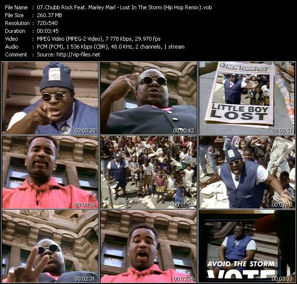 Screenshot of Music Video Chubb Rock Feat. Marley Marl - Lost In The Storm (Hip Hop Remix)
