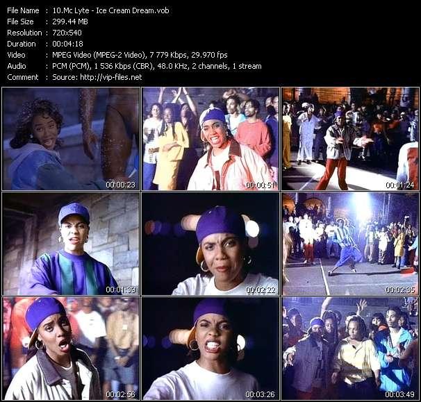 Screenshot of Music Video Mc Lyte - Ice Cream Dream