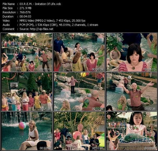 Screenshot of Music Video R.E.M. - Imitation Of Life