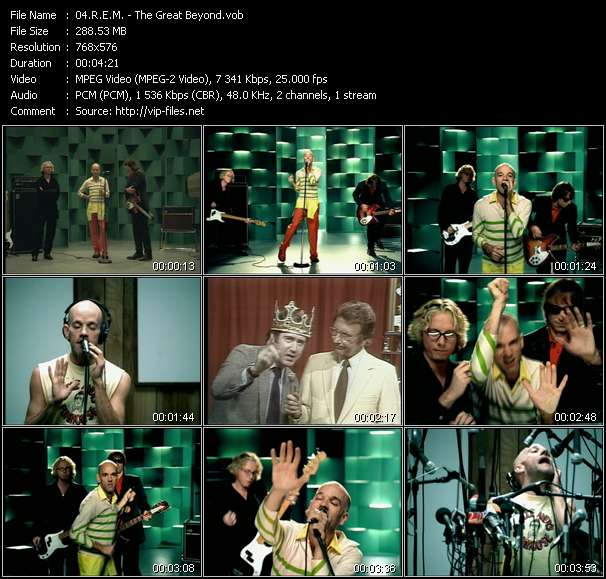 Screenshot of Music Video R.E.M. - The Great Beyond