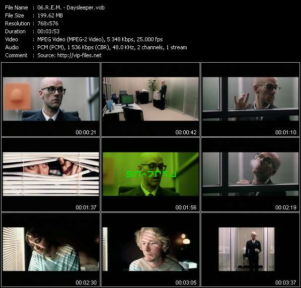 Screenshot of Music Video R.E.M. - Daysleeper