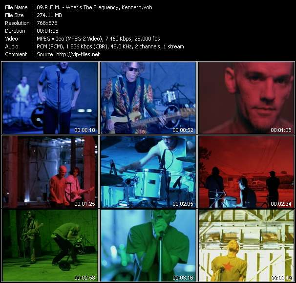 Screenshot of Music Video R.E.M. - What's The Frequency, Kenneth?