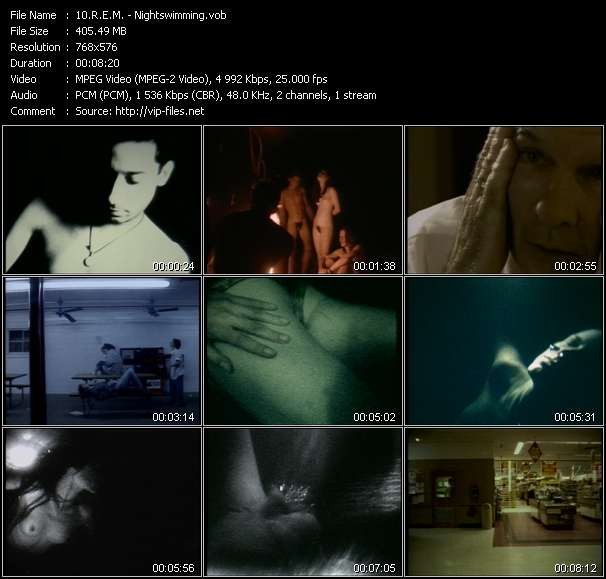Screenshot of Music Video R.E.M. - Nightswimming