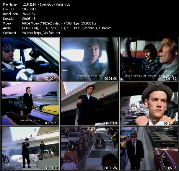 Screenshot of Music Video R.E.M. - Everybody Hurts