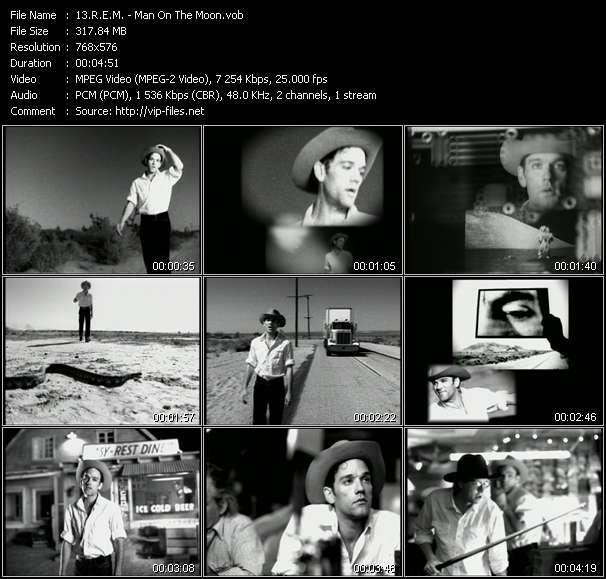 Screenshot of Music Video R.E.M. - Man On The Moon
