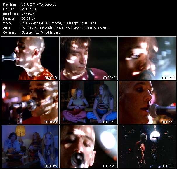 Screenshot of Music Video R.E.M. - Tongue