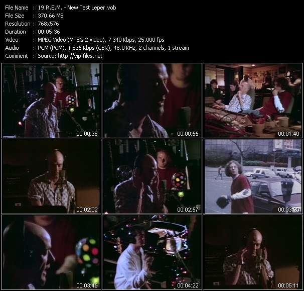 Screenshot of Music Video R.E.M. - New Test Leper