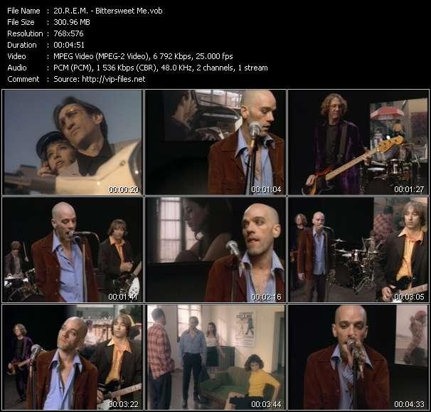 Screenshot of Music Video R.E.M. - Bittersweet Me