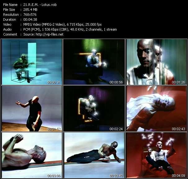 Screenshot of Music Video R.E.M. - Lotus