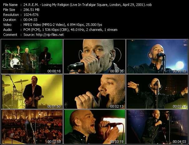 Screenshot of Music Video R.E.M. - Losing My Religion (Live In Trafalgar Square, London, April 29, 2001)
