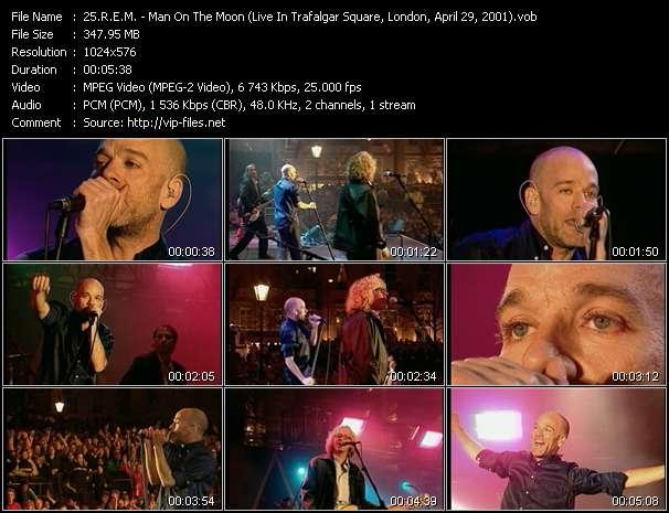 Screenshot of Music Video R.E.M. - Man On The Moon (Live In Trafalgar Square, London, April 29, 2001)