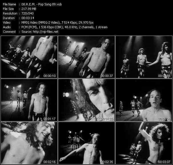 Screenshot of Music Video R.E.M. - Pop Song 89