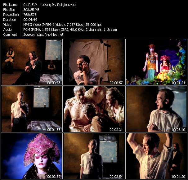 Screenshot of Music Video R.E.M. - Losing My Religion