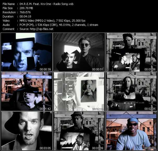 Screenshot of Music Video R.E.M. Feat. Krs-One - Radio Song