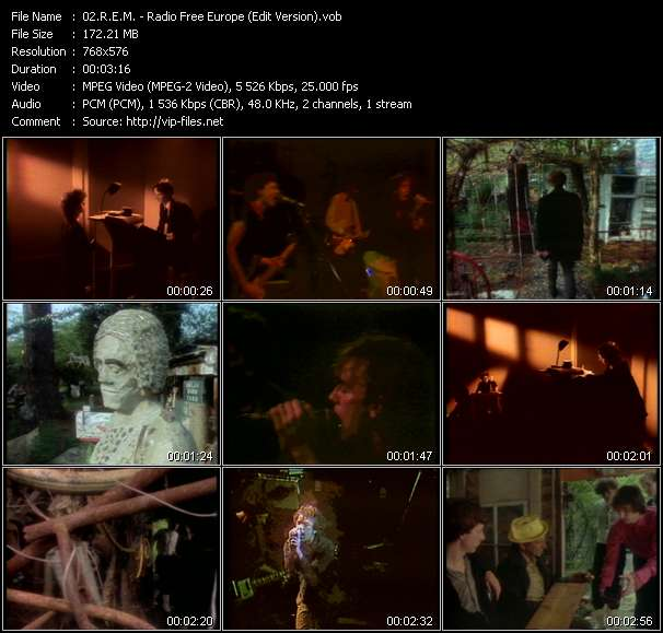 Screenshot of Music Video R.E.M. - Radio Free Europe (Edit Version)