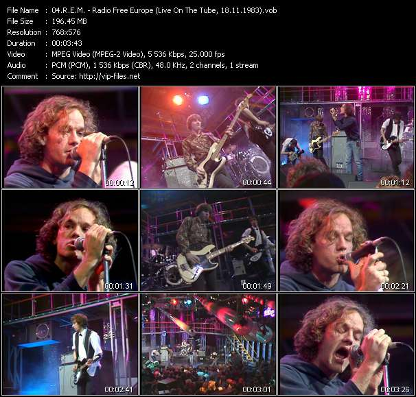 Screenshot of Music Video R.E.M. - Radio Free Europe (Live On The Tube, 18.11.1983)