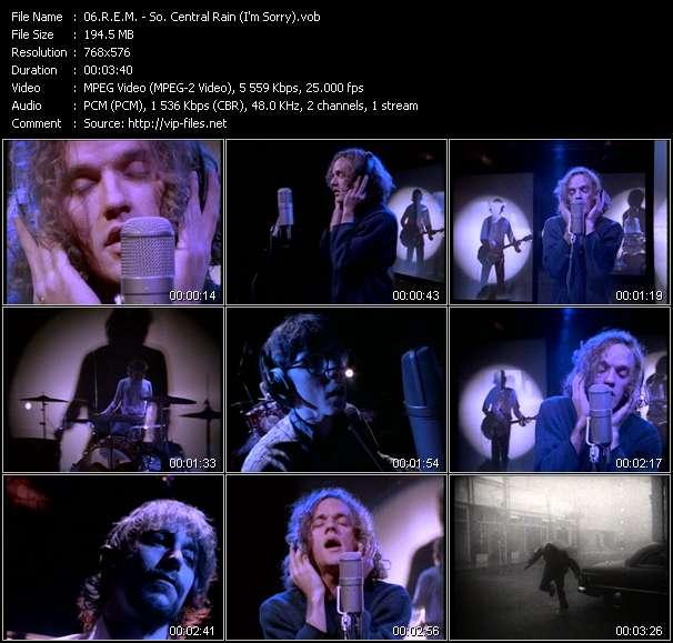 Screenshot of Music Video R.E.M. - So. Central Rain (I'm Sorry)